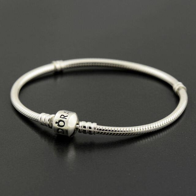 Authentic Genuine Pandora Silver Clasp Bracelet 20cm - 590702HV-20