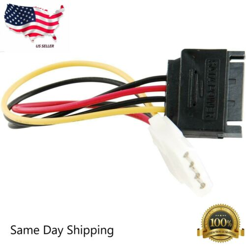 SATA Power Male to Molex Female Adapter Converter Cable, 6-Inch