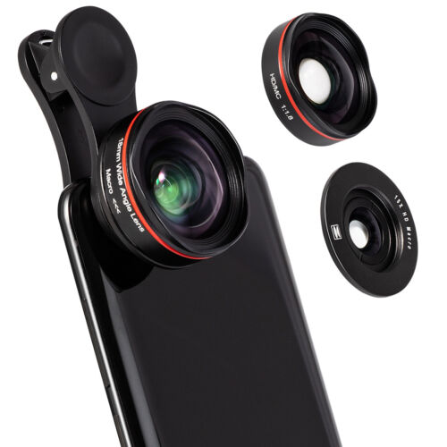 2 in 1 Professional Phone Camera Lens Kit Clip On for iPhone SAMSUNG Smartphone Cell Phone Accessories