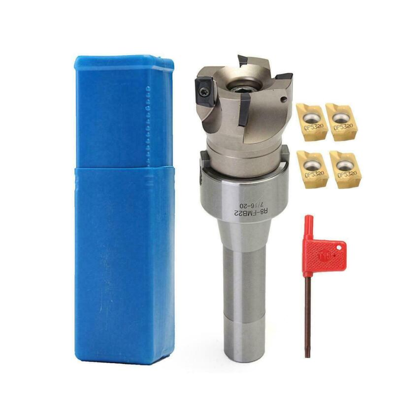 R8 FMB22 Arbor 400R 50MM Face End Mill Shell Cutter +4x APMT1604 Carbide Inserts