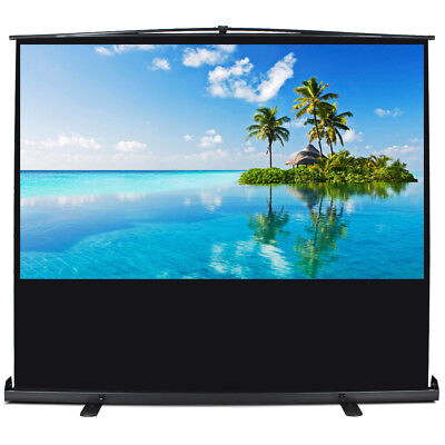 """Portable 60"""" 4:3 Pull Up Projector Screen Meeting Room Floor Stand Projection"""