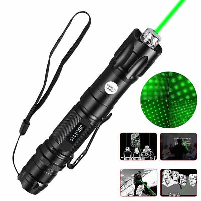 Military High Power 20Miles 1mW 532nm Green Laser Pointer Pen Visible Beam Light