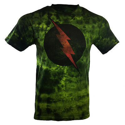 Men's T-shirt-Tie Dye-The Flash-DC Comics - Universe-100% cotton-Soft Fabric .   (Cheap Tie Dye Shirts)
