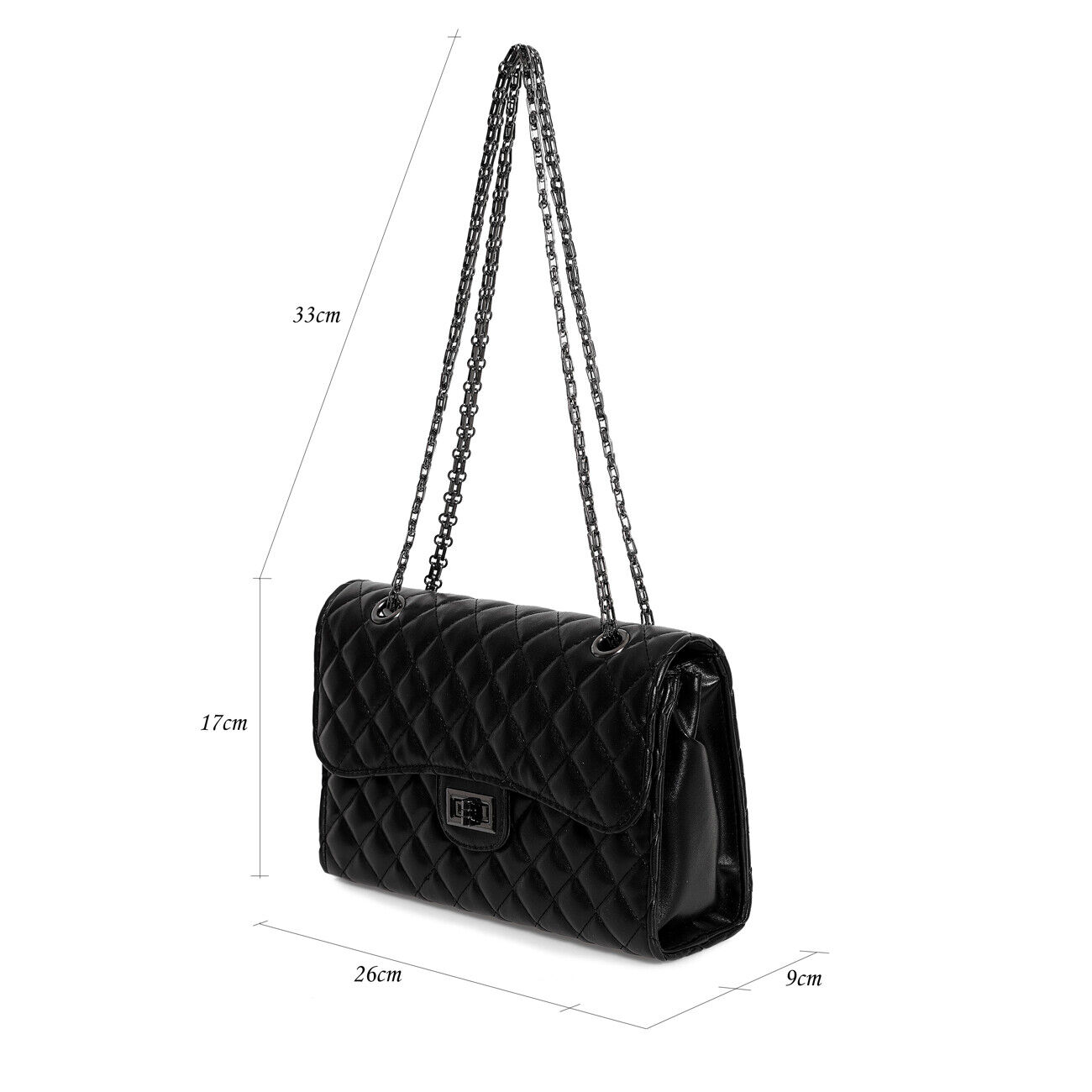 Damen Elegant Abendtasche Handtasche Gesteppt  ClutchTasche  Umhängetasche 02081