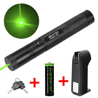 900miles 532nm Green Laser Pointer Lazer Pen Visible Beam Light 1865o Charger