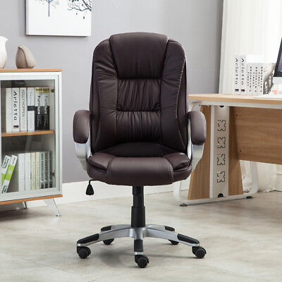 High brown PU Leather Executive Office Desk Task Computer boss luxury Chair NEW 1