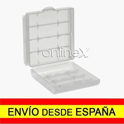 Caja Almacenaje Estuche para PILAS AA Blister Transparente de Plastico a3423