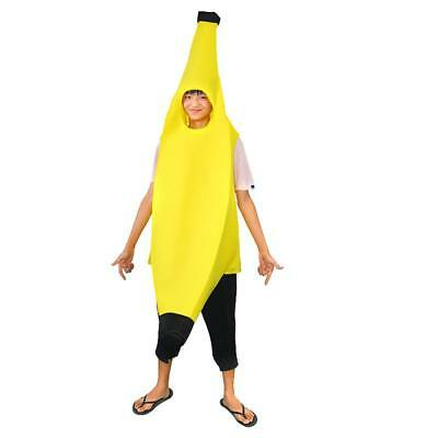 2018 Halloween Banana Costume Adult Fancy Dress Fruit Outfit Funny Suit Party