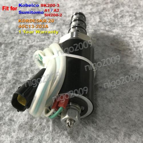 Solenoid Valve KDRDE5KR-20/40C13-203A for Sumitomo Excavator Kobelco SK200-3