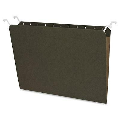 Sparco Hanging File Folders, 1/3 Cut, Ltr, 20/PK, Green 41050