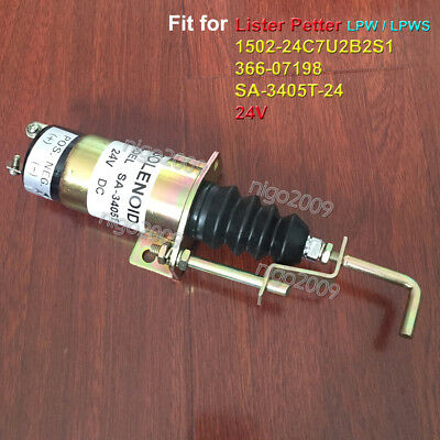 1502-24c7u2b2s1 Fuel Shut Off Solenoid Sa-3405t-24 Fit For Lister Petter Engines