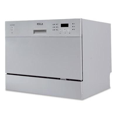 DELLA Compact Mini Dishwasher with 6 Wash Cycles Small Setti