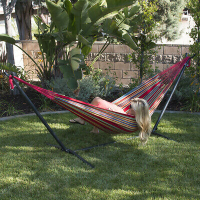 NEW 10ft Double Hammock Stand Patio Outdoor Portable with Ca