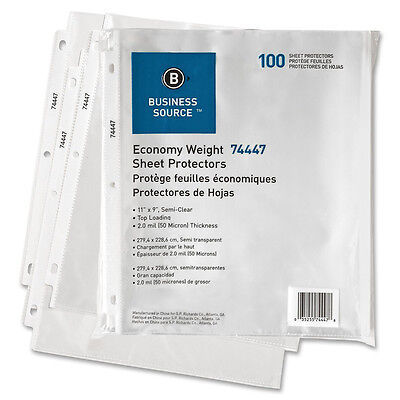 Clear Sheet Protectors Business Source Brand 1000 Sheets,  BSN 21125