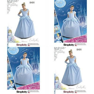 Disney Princess Halloween Costume Cinderella Simplicity Pattern New 2017 U Pick
