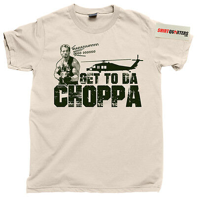 The Predator 2 3 Arnold Schwarzenegger Get To The Da Choppa Chopper Dvd T Shirt