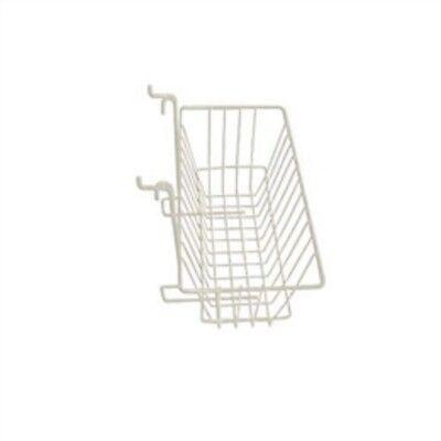 Only Hangers Slatwall Gridwall Basket 12 Long X 6 Deep X 6 High White 5pk