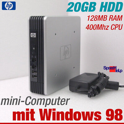 Computer Games - HP Mini Computer PC For Windows 98 Old Dos Games 400MHZ 20GB HDD RS-232 Parallel