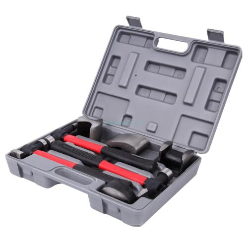 7pc Car Auto Body Repair Panel Beating Kit Hammer Dolly Dent Tool Set