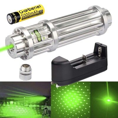 Power Military 532nm 1mW Green Laser Pointer Pen Visible Beam Light +Charger for sale  USA