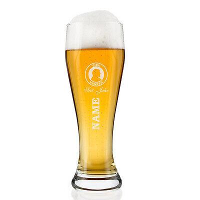 Weizenglas (Bohemia) - Bier Kenner - mit Gravur (Namen und Geburtsjahr)