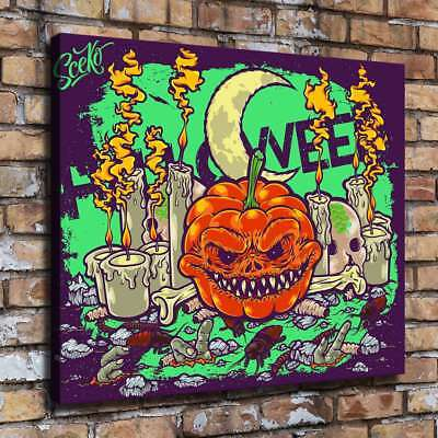 Halloween Horror HD Canvas print Painting Home Decor Picture Room Wall art 09555 - Halloween Horror Pic