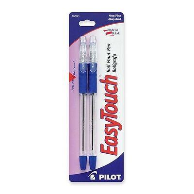 Lot 12 6 Packs Of 2 Pilot Easytouch Ball Point Pens Blue Fine Soft Grip New