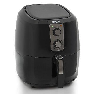 Electric Air Fryer Xl Button Guard No Oil Low Fat Detachable Basket 5 8 Qt Black