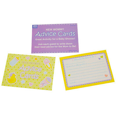 New Mommy Advice 24 Cards Baby Shower Game Party Activities Supplies Best - Best Baby Shower