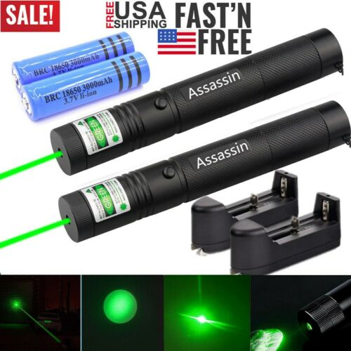 2pack 900miles green laser pointer pen visible