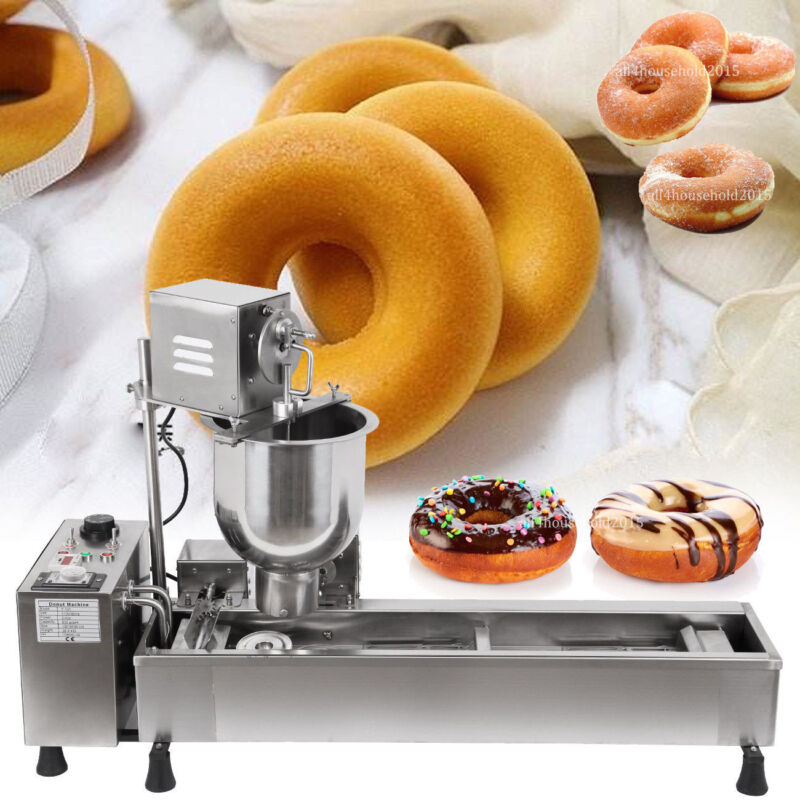 Commercial Doughnut Maker Automatic Donut Maker Making Machine 3 Sizes Molds