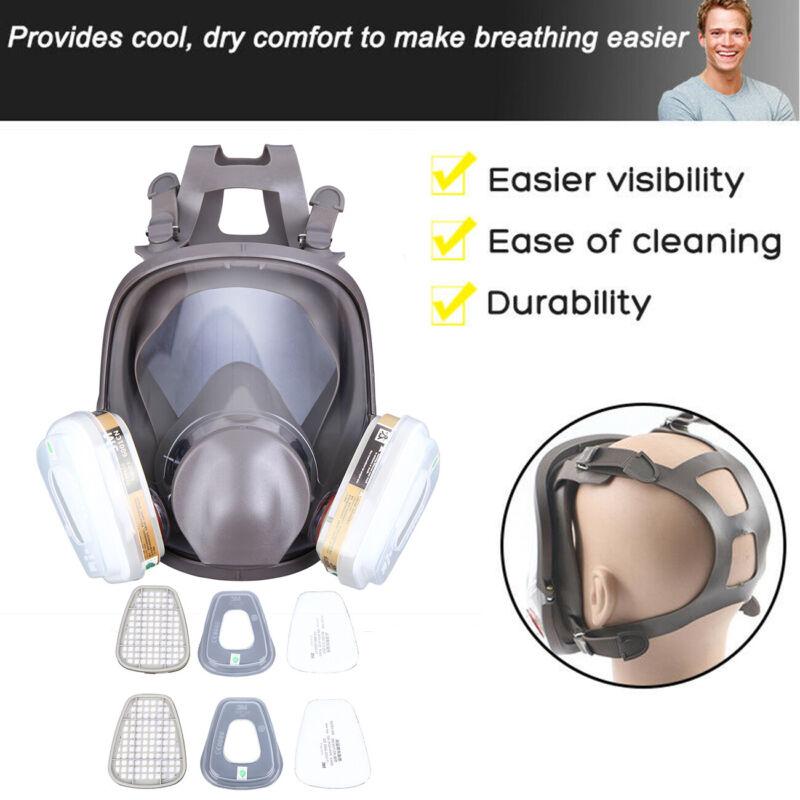 6800 Gasmaske 15 IN 1 Vollgesichtsmaske Atemschutz Lackiermask Staubmaske Maske