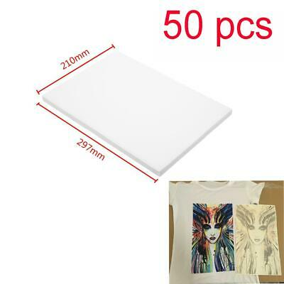 50pcs A4 Sublimation Paper Iron On Heat Press Transfer Paper Inkjet T-shirt Cup