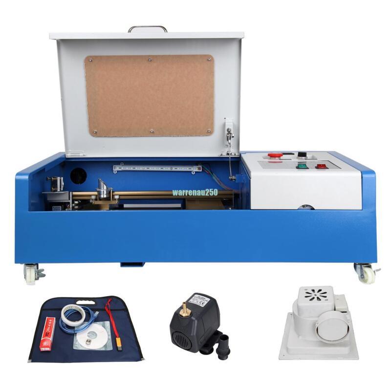 """Ridgeyard 40W CO2 Laser Engraving Cutting Machine 12*8"""" Engraver Cutter 4 Wheels"""