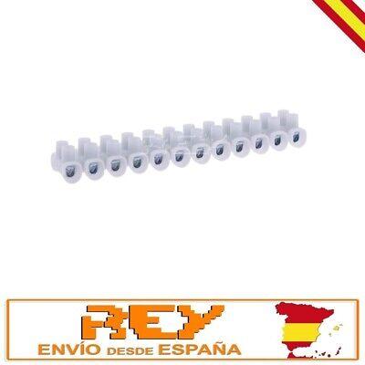 Regleta Empalmes de 12 Secciones para Cables de 10mm Conexión Eléctrica 10A...