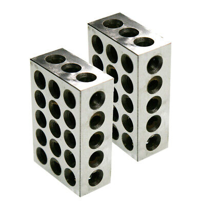 New Bl 1-2-3 Pair Of 1 X 2 X 3 Precision Steel 1 2 3 Blocks