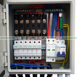 ECO Safe 6 String Solar Combiner Box Surge Lighting Protection for Solar Panel