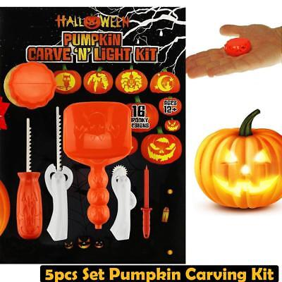2018 New Halloween Pumpkin Carving Kit 16 designs conventional Sculpting 5 in 1 - Gsn Halloween