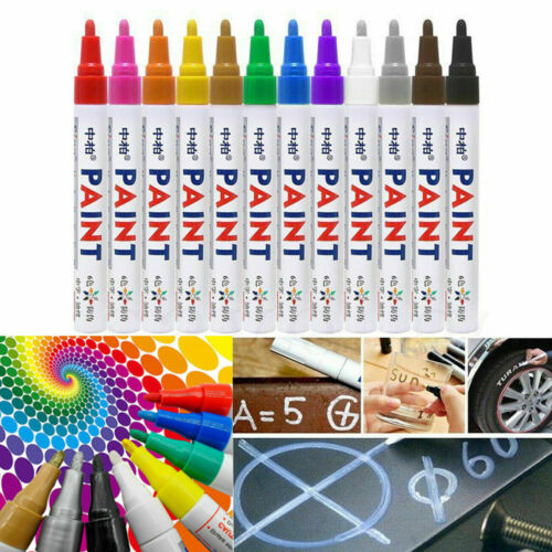Paint Markers Pens Set Medium Tip Art Permanent Paints Pens For Rock