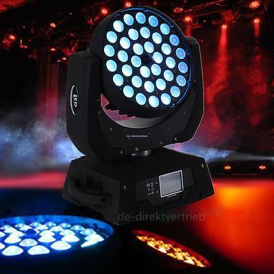 36 x 10W RGBW 4 IN 1 Zoom Led Moving Head Light DJ Stage Party DMX 16Ch 360W