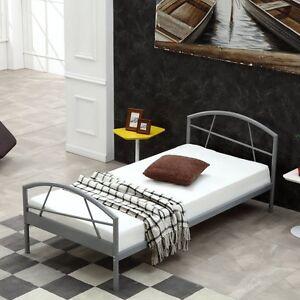 metallbett 90x200 ebay. Black Bedroom Furniture Sets. Home Design Ideas