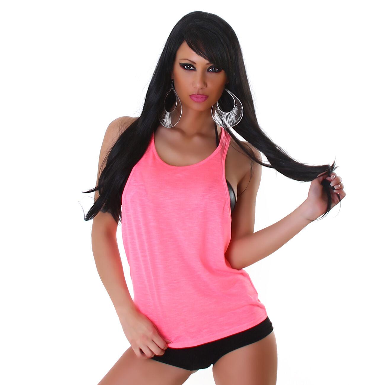 Damen Top Shirt Partytop T-Shirt Trägertop Strandtop Sporttop Hemd