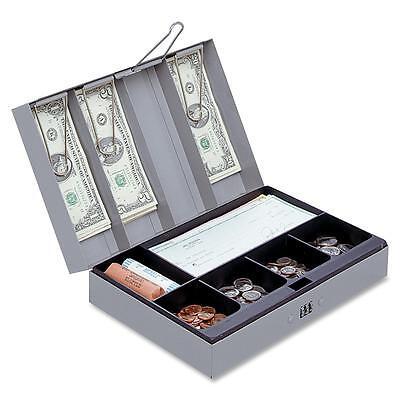 Sparco Combination Lock Cash Box Steel 11-12x7-12x3-18 Gray 15508