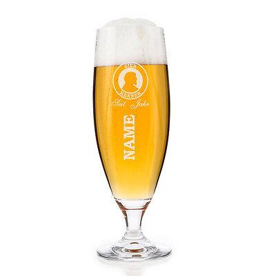 Bierglas (Bohemia) - Bier Kenner - mit Gratis Gravur des Namens und Alters