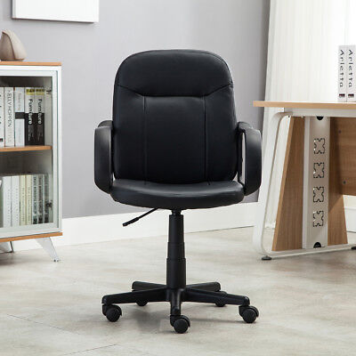 Купить Onebigoutlet - New Modern Office Executive Chair PU Leather Computer Desk Task Hydraulic Black