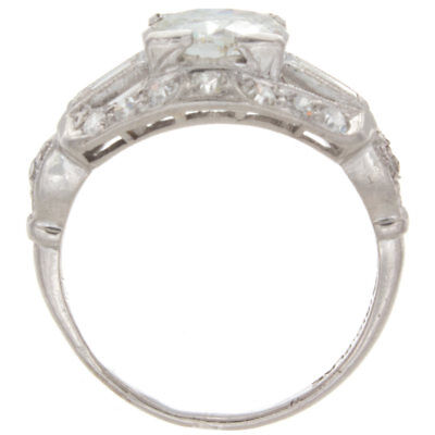 1.57ct Old European Cut GIA Certified Platinum Antique Engagement Ring 3