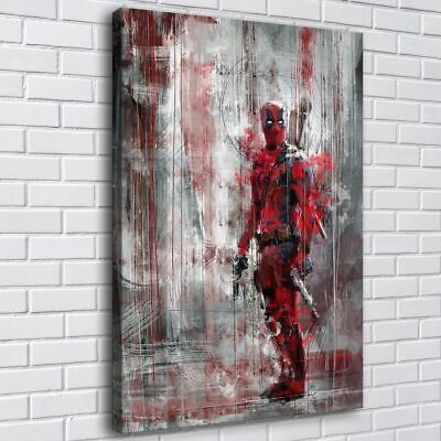 Abstract Deadpool HD Canvas prints Painting Home decor Room Wall art Picture for sale  Shipping to Canada