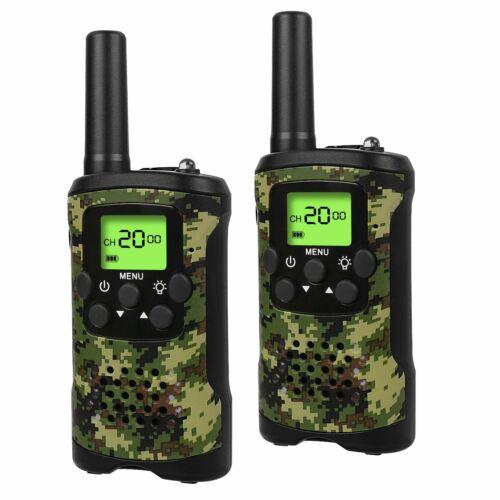 1 pair UOKOO Walkie Talkies For Kids 22 Channel 3 Miles 2 Way Radio (camouflage)