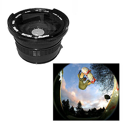 Wide Angle 0.42x Fisheye Lens with Macro for Sony Camcorders 37mm