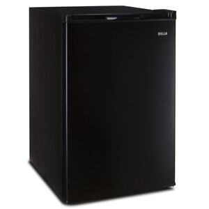 3.0 cu ft Black Freestanding Upright Freezer Compact Mini Single Reversible Door